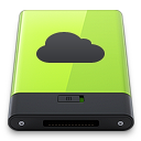128x128px size png icon of Green iDisk