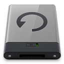 128x128px size png icon of grey backup b