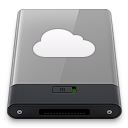 128x128px size png icon of grey idisk w