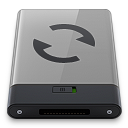 128x128px size png icon of grey sync b
