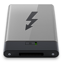 128x128px size png icon of grey thunderbolt b