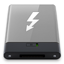 128x128px size png icon of grey thunderbolt w
