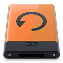 128x128px size png icon of orange backup b