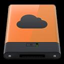 128x128px size png icon of orange idisk b
