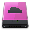 128x128px size png icon of pink idisk b
