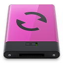 128x128px size png icon of pink sync b