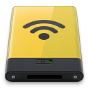 128x128px size png icon of yellow airport