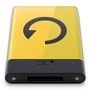 128x128px size png icon of yellow backup