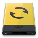 yellow sync Icon