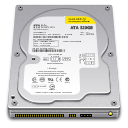 128x128px size png icon of Internal Drive 320GB