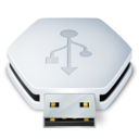128x128px size png icon of USB Removable