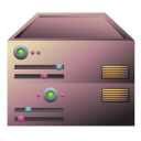 128x128px size png icon of server bronze