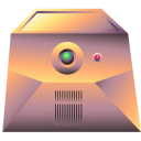 128x128px size png icon of server gold