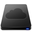 128x128px size png icon of iDisk   Black