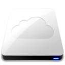 128x128px size png icon of iDisk   White