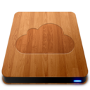 128x128px size png icon of iDisk   Wood