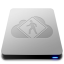 128x128px size png icon of iDisk User   Aluminum