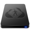 128x128px size png icon of iDisk User   Black