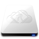 128x128px size png icon of iDisk User   White