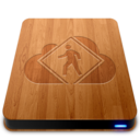 128x128px size png icon of iDisk User   Wood