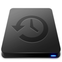 128x128px size png icon of Time Machine Black