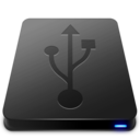 128x128px size png icon of USB Black