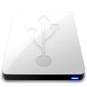 USB White Icon