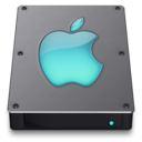 128x128px size png icon of Steel Drive Aqua