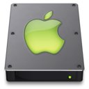 Steel Drive Lime Icon