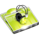 128x128px size png icon of Folders Music Folder
