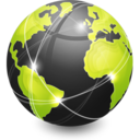 128x128px size png icon of Network Web