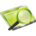 128x128px size png icon of Search Search Folder