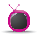 128x128px size png icon of television 01