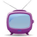 128x128px size png icon of television 04
