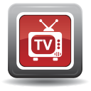 128x128px size png icon of television 05