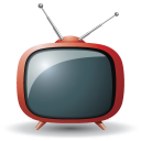 128x128px size png icon of television 08