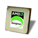 128x128px size png icon of AMD Sempron CPU