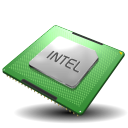 128x128px size png icon of CPU Intel
