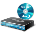 128x128px size png icon of BluRay Player Disc