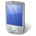 128x128px size png icon of PDA White