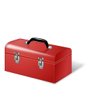 128x128px size png icon of Toolbox Red