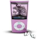 128x128px size png icon of Pink iPod4rthGen