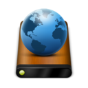 128x128px size png icon of Wood Drive Globe