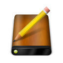 128x128px size png icon of Wood Drive Pencil