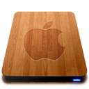128x128px size png icon of Wooden Slick Drives   Apple