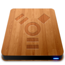 128x128px size png icon of Wooden Slick Drives   Firewire