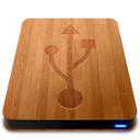128x128px size png icon of Wooden Slick Drives   USB