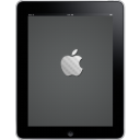 128x128px size png icon of iPad Front Apple Logo