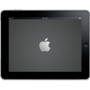 128x128px size png icon of iPad Landscape Apple Logo