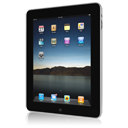 128x128px size png icon of iPad front askew right